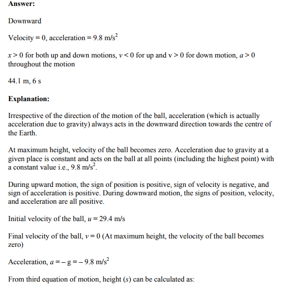 Physics Numericals Class 11 Chapter 3 23