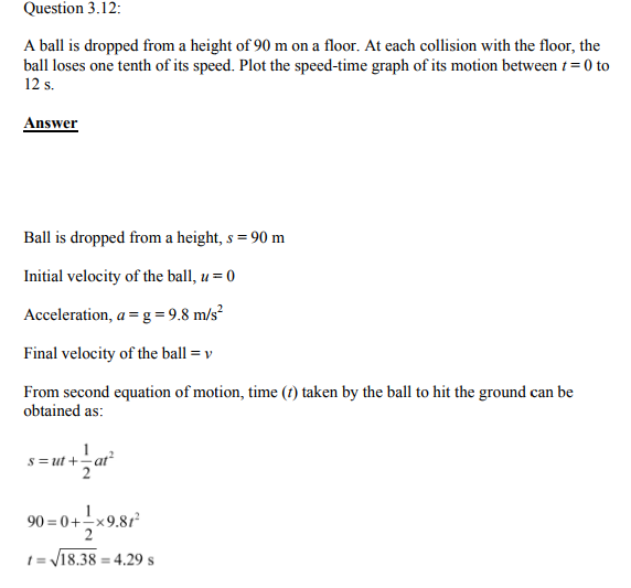 Physics Numericals Class 11 Chapter 3 29