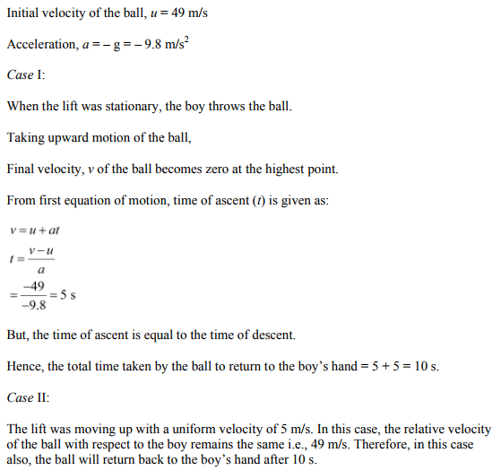 Physics Numericals Class 11 Chapter 3 62