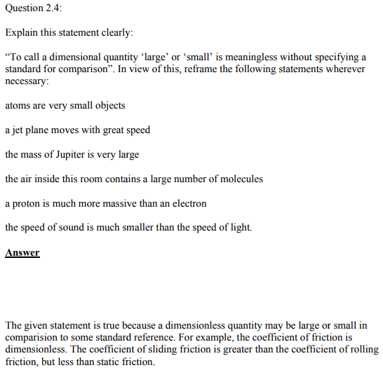 Physics Numericals Class 11  Chapter 2 10