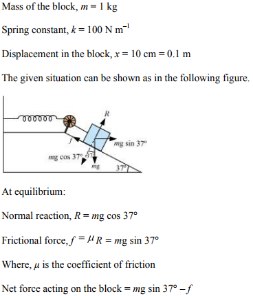 Physics Numericals Class 11 Chapter 6 91