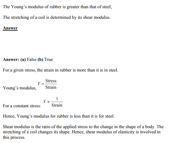 Physics Numericals Class 11 Chapter 9 10