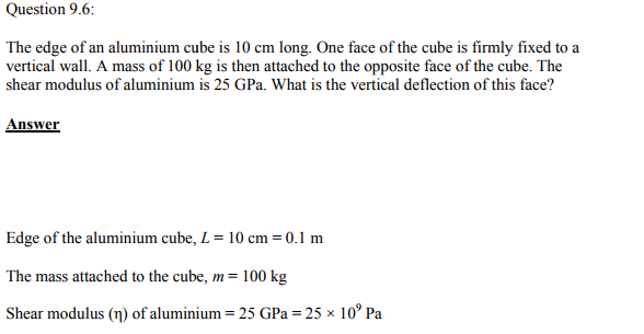 Physics Numericals Class 11 Chapter 9 15