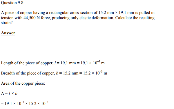 Physics Numericals Class 11 Chapter 9 19