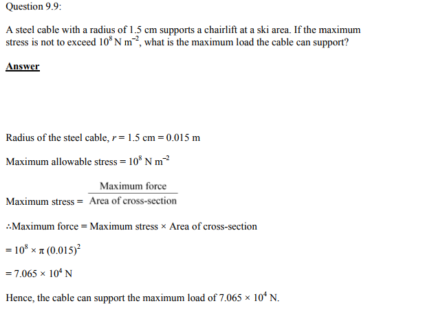 Physics Numericals Class 11 Chapter 9 22