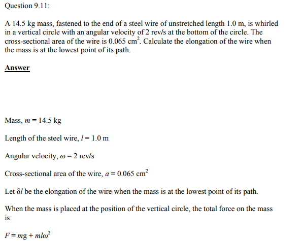 Physics Numericals Class 11 Chapter 9 25