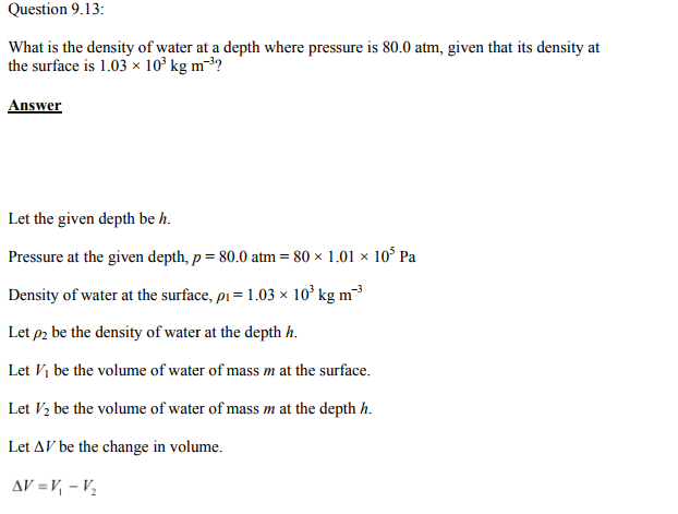 Physics Numericals Class 11 Chapter 9 31