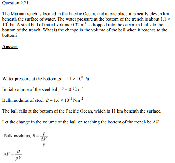 Physics Numericals Class 11 Chapter 9 58