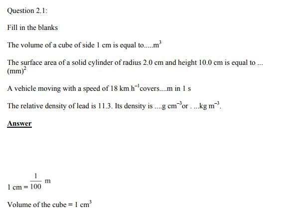 Physics Numericals Class 11  Chapter 2 1