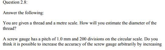 Physics Numericals Class 11  Chapter 2 17
