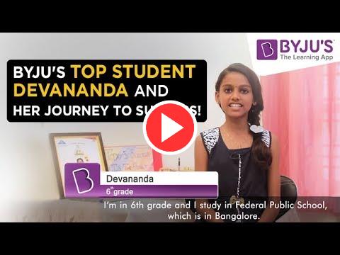 BYJU'S Story - Devananda | Class 6 | Bangalore