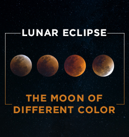 Lunar Eclipse : The Moon of a different color