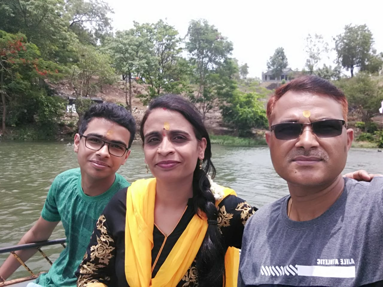 UJJWAL WITH HIS PARENTS