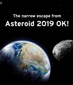 Asteroid 2019 OK, Almost hits our Mother Earth!