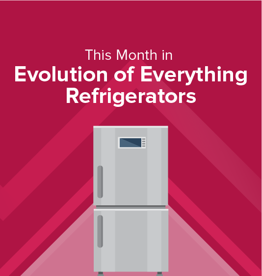 How did the refrigerator evolve from icehouse stores?