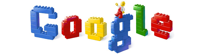 Google doodle for 50th anniversary of Lego