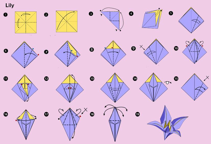 DIY Origami Lily flower
