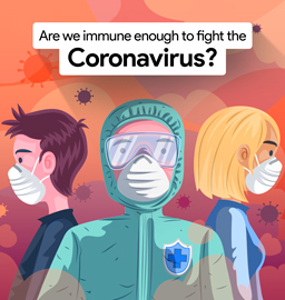 How does our Immune system respond to COVID -19 attacks?