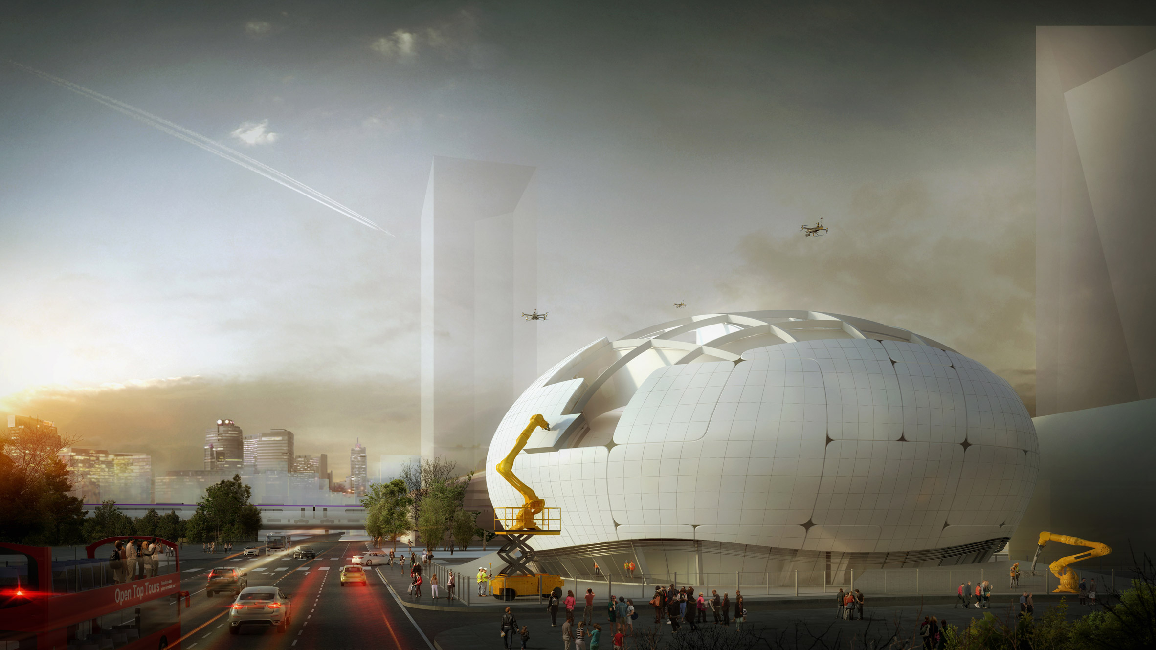 An artist's rendition of the Robot Science Museum at Seoul set to open its doors in 2022.