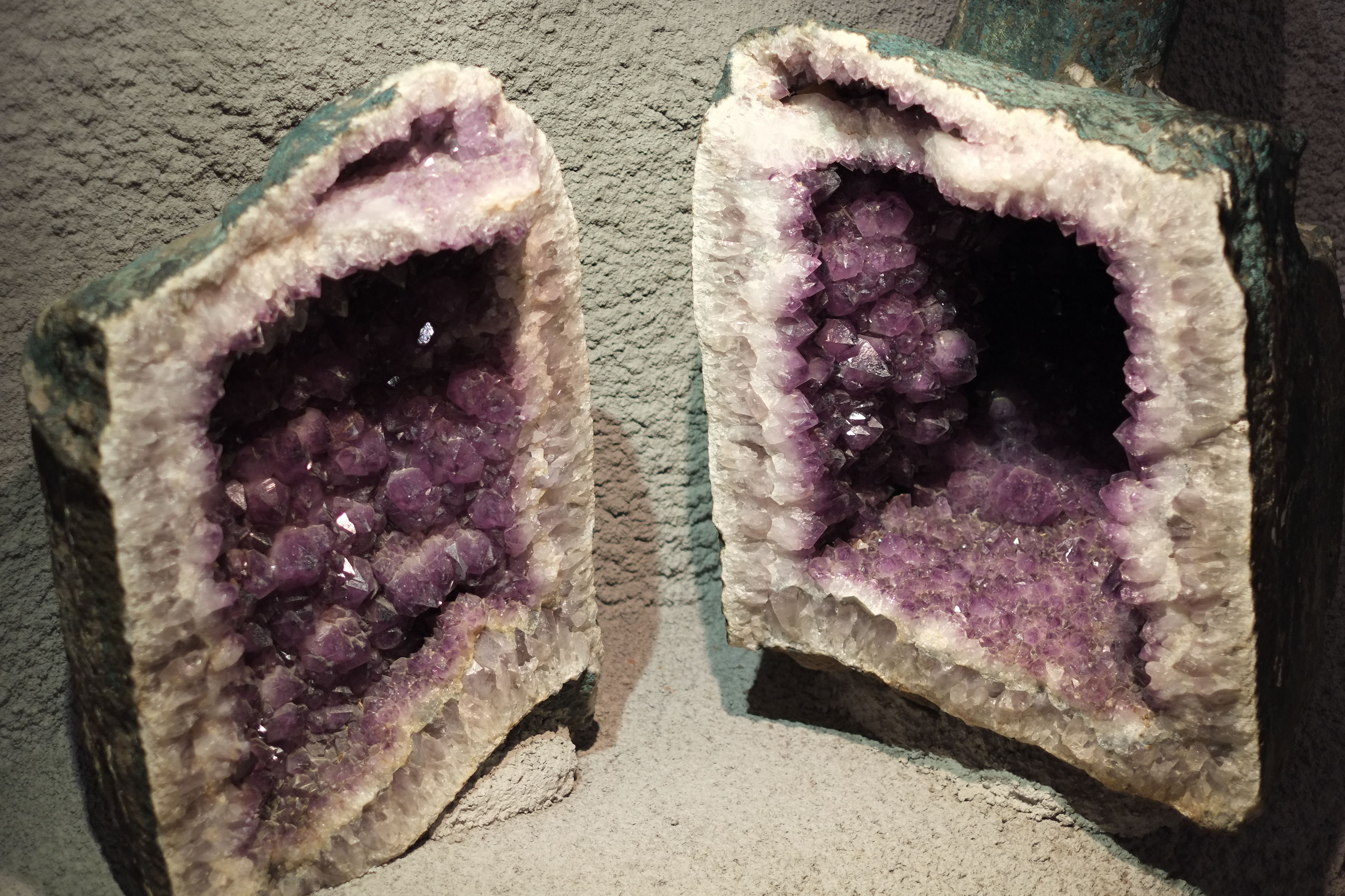 amethyst geode in Crystal Mountain Museum