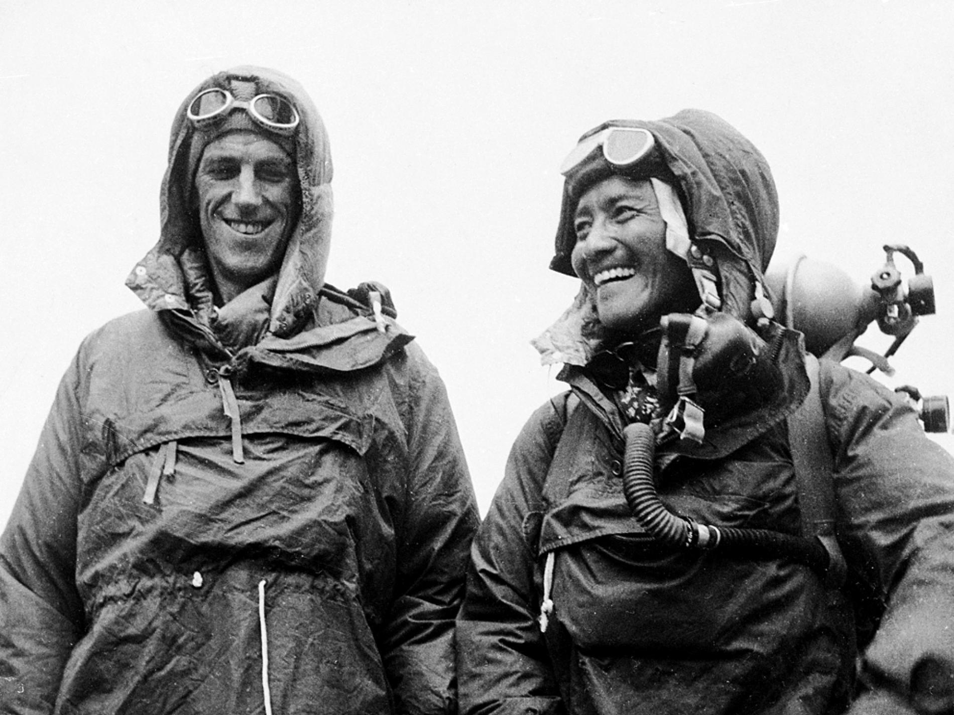 Edmund Hillary and Tenzing Norgay, 1953