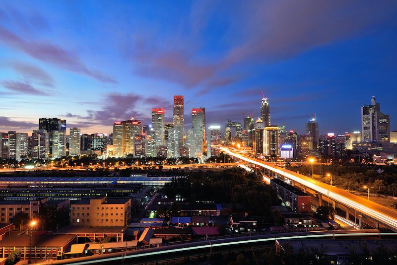 time lapse shot of Beijing at night