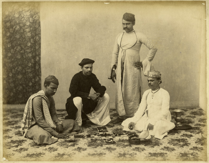 Indian playing pachisi 1880
