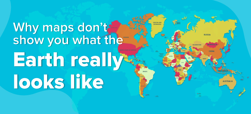 Banner image: Why maps don't show what the earth really looks like
