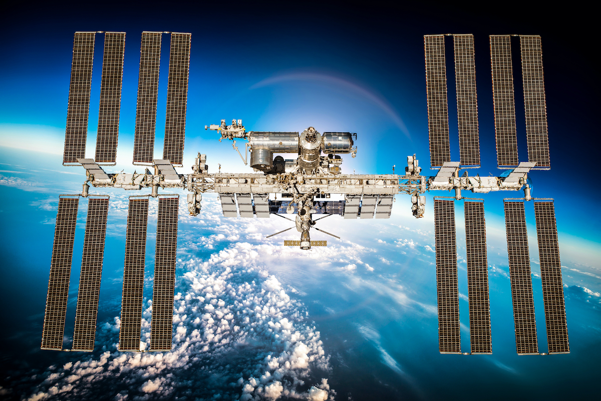 International Space Stations in geo synchronous orbit.