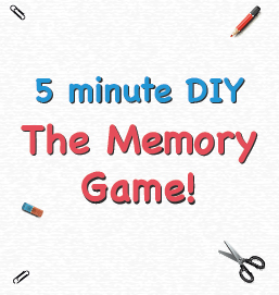 Play the Memory Game – with just a pen, paper and scissors!