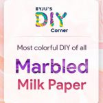 Indulge in colours with Marbled Milk Paper DIY