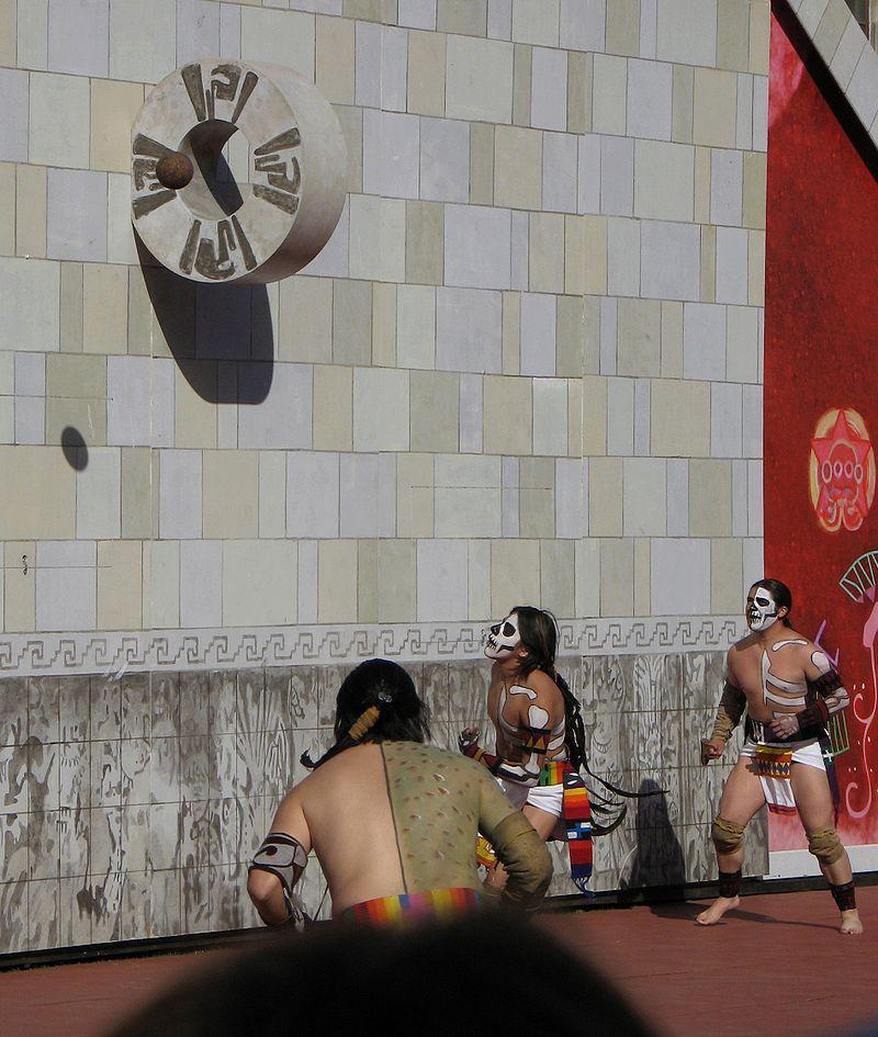 An recreation of the ancient Mesoamerican Ballgame