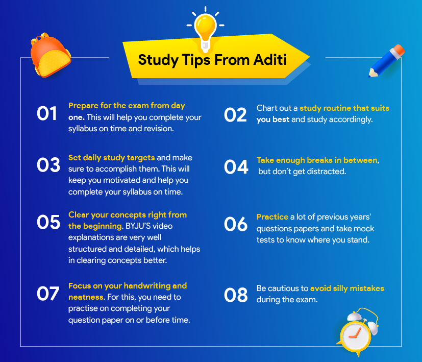 Study tips from BYJU'S Topper Aditi