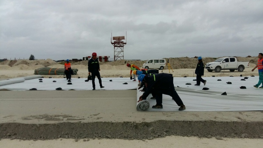 Foundation work on new runway begins