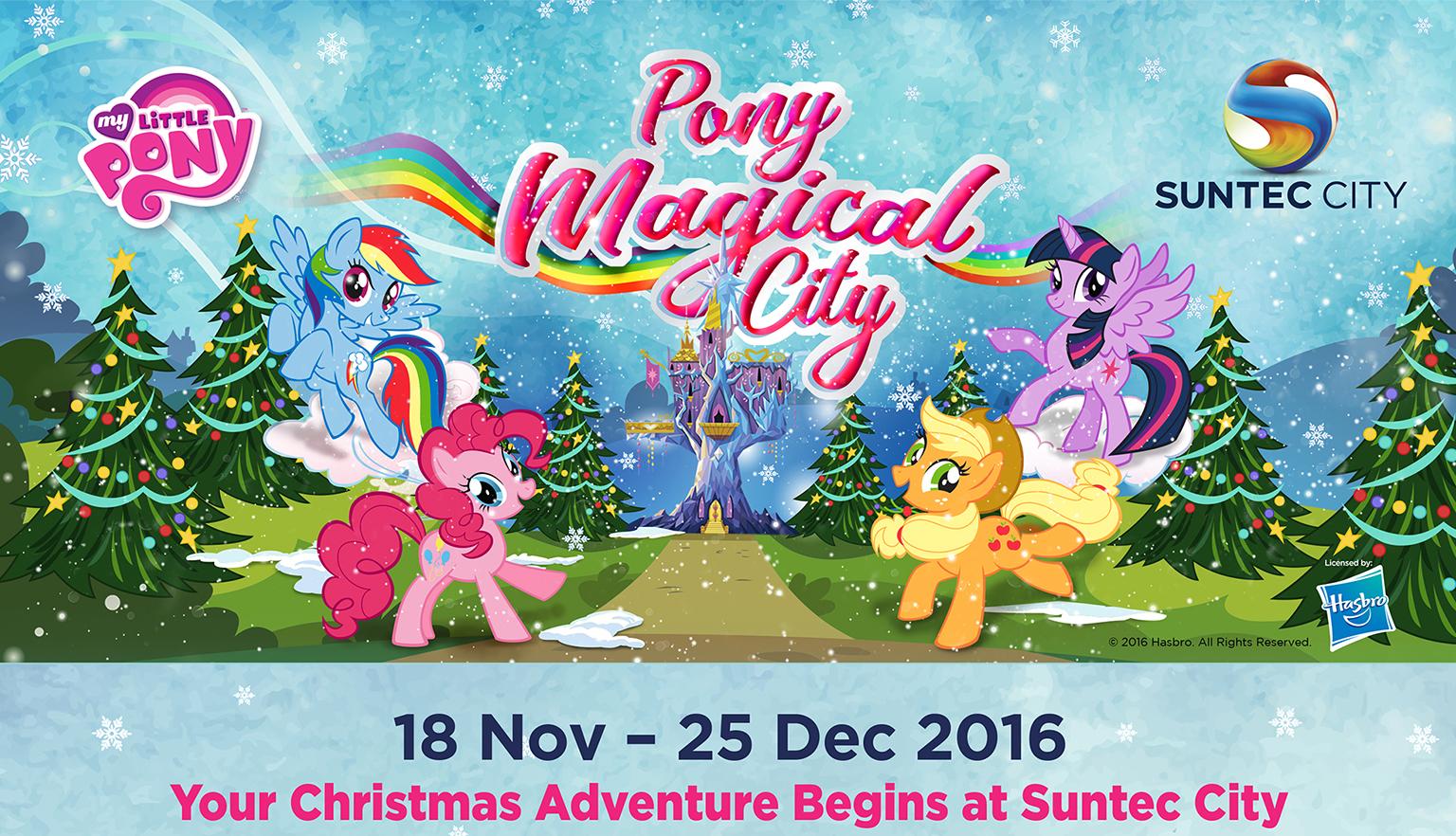 My Little Pony Christmas.Pony Magical City Christmas At Suntec City Suntec City