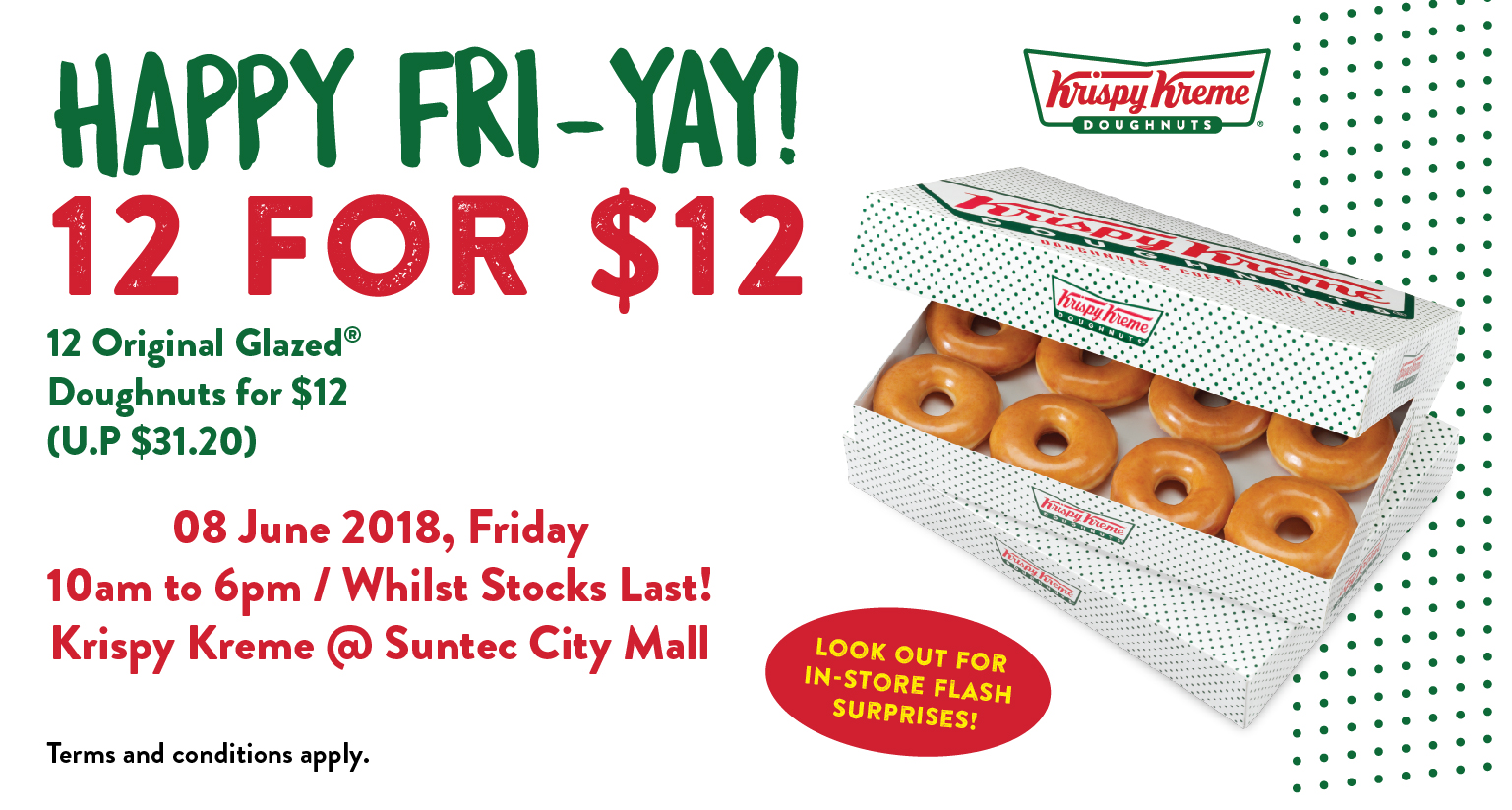 Krispy Kreme doughnut deal is back! - Suntec City