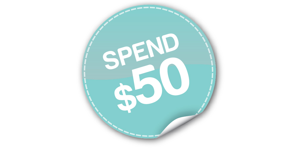 Min spend $50