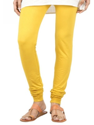 Women Yellow Leggings