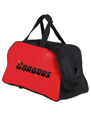 Canopus Duffle Bag(Black & Red)