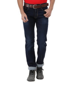 Canopus Navy Blue Men Jeans