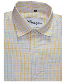 Canopus Yellow and blue Checked Shirt