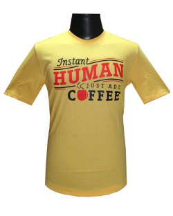 Canopus Men Yellow(Instant) Printed T-Shirt