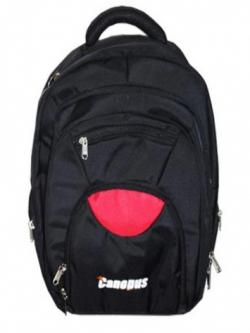 Canopus Laptop Backpack (Black & Red)