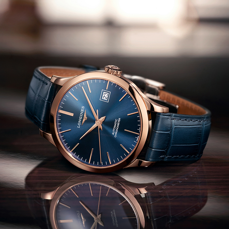 Jewelry & Watches Watches, Parts & Accessories Cronógrafo Record Geneve Modern And Elegant In Fashion