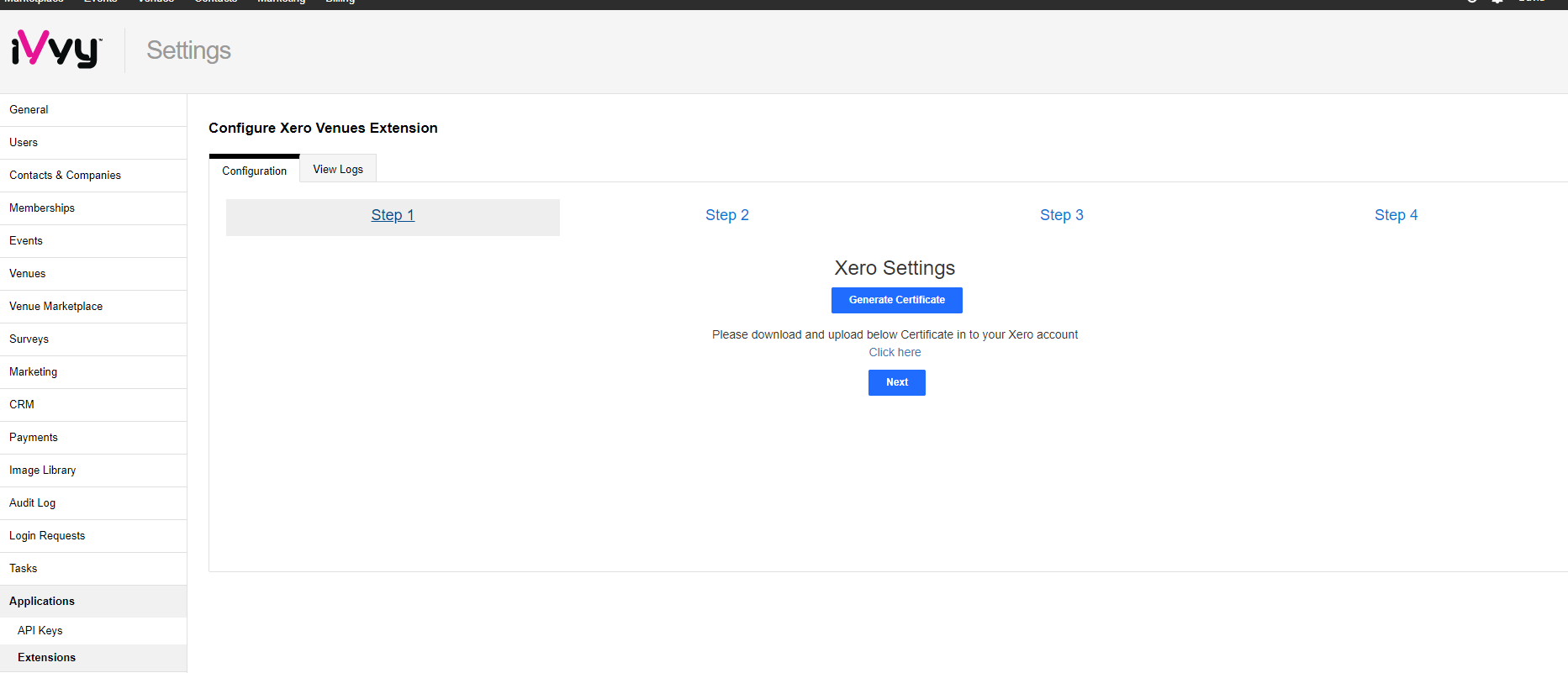 Setting up your Venues Xero Integration