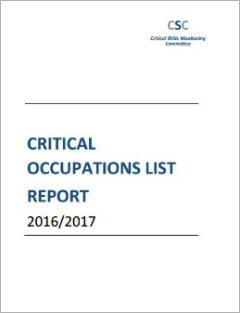 Critical Occupations List Report (2016/2017)