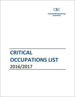 Critical Occupations List (2016/2017)