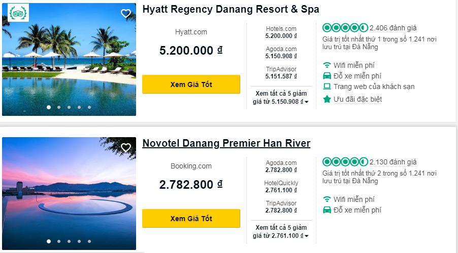 Review của khách hàng xuất hiện trong thông tin khách sạn trên OTAs