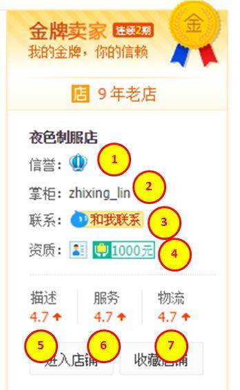 เช็คความน่าเชื่อถือร้านค้าใน taobao