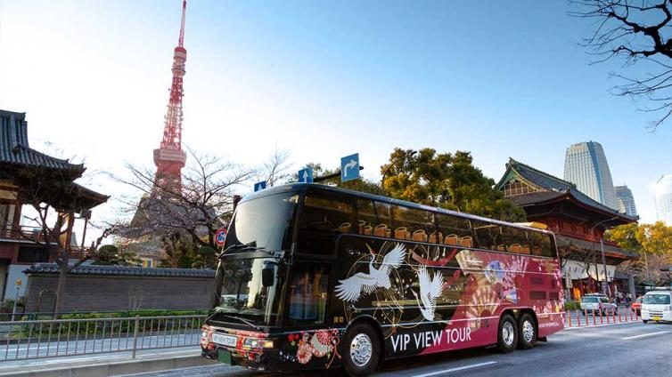 〈70mins〉Tokyo Open Top Bus ~City Course~ [English & Chinese Audio]